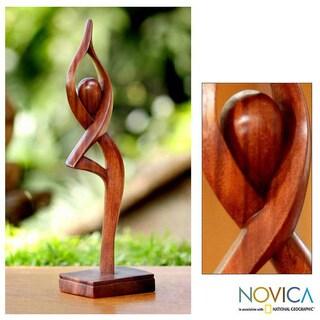 Handmade Wood 'Prayer' Statuette (Indonesia)