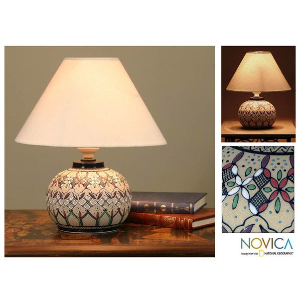 Ceramic 'Kaleidoscope Light' Lamp (Mexico)