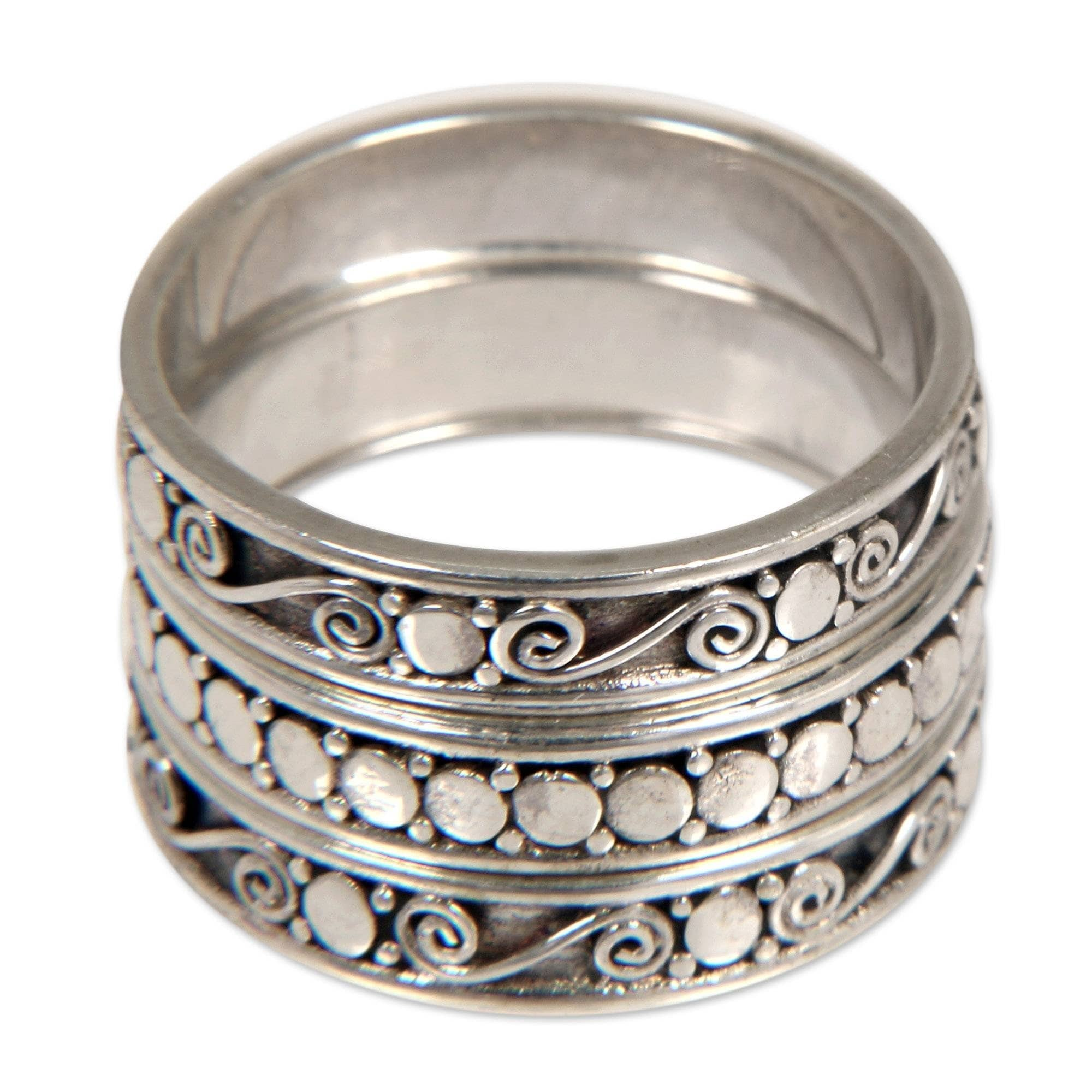 4e71e7c6f0c6f Handmade Traditional Balinese 925 Sterling Silver Band Stacking Ring  (Indonesia)