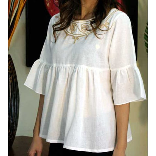 Handmade Cotton 'Sugar Chic' Women's Blouse (Thailand)