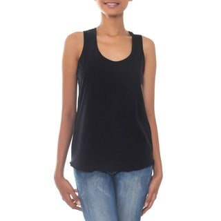 Handmade 'Classic Black' Cotton Tank Top (Indonesia) (3 options available)