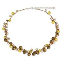 Handmade River Of Gold Multicolor Freshwater Pearl Strand Necklace (Thailand) - Brown