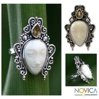 Handmade Sterling Silver 'Sleeping Princess' Citrine Ring (Indonesia)