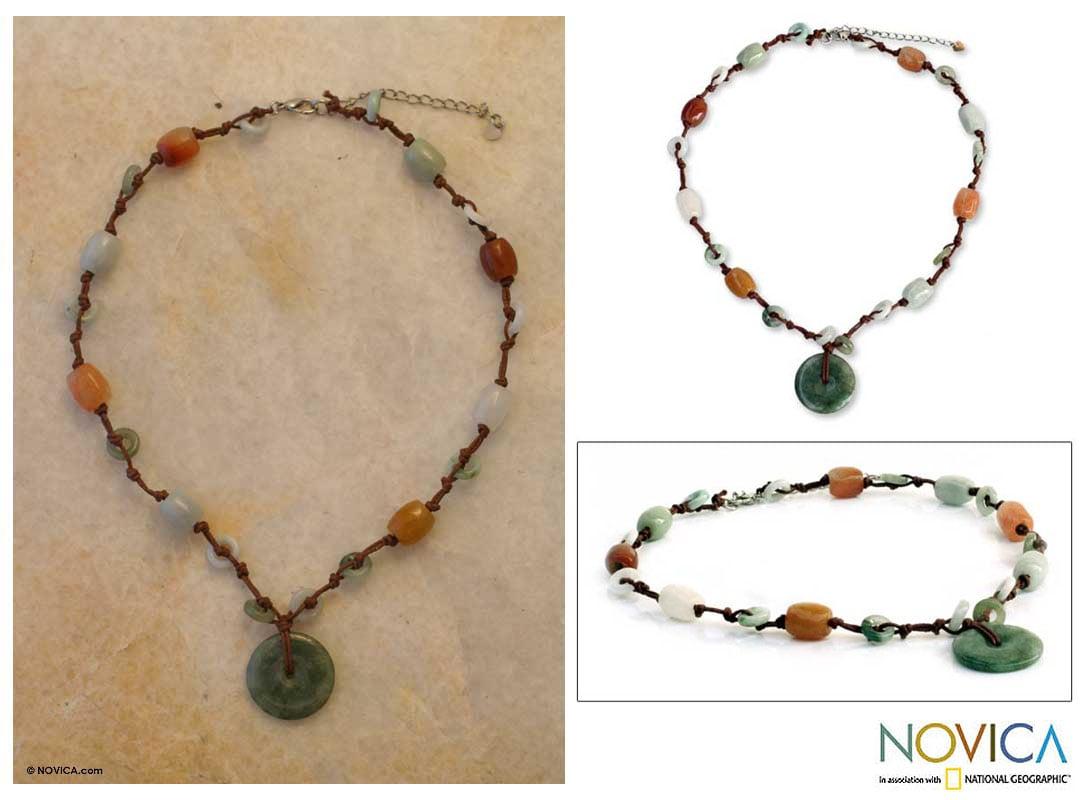 Handmade Jade 'Harmony' Beaded Necklace (Thailand)