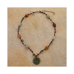 Handmade Jade 'Harmony' Beaded Necklace (Thailand)