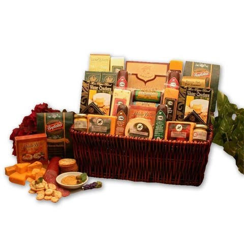Classic Selection Deluxe Meat & Cheese Gourmet Handpacked Basket