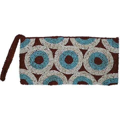 Handmade 'Earth Circles' Beaded Handbag (Indonesia) - M