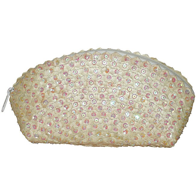 Handmade Pearl Sequined Clutch Handbag (Indonesia)