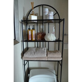 ATHome White Metal Bath Space Saver
