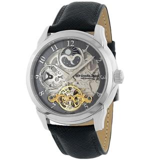 Stuhrling Original Men's Tempest Automatic Watch Gray Dial Ring