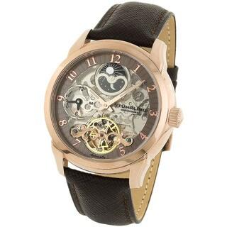 Stuhrling Original Men's Tempest Automatic Watch Light Brown Dial Ring