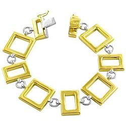 14k Two-tone Contemporary Bracelet