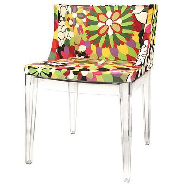 Colorful Fabric Seat Accent Chair
