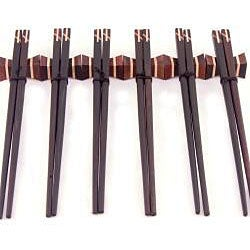 12-piece Inlaid Wood Chopsticks Set