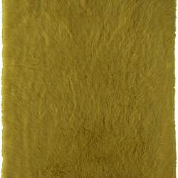 Meticulously Woven Himalaya Green/Gold Shag. Rug (5' x 8') - Thumbnail 1