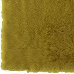 Meticulously Woven Himalaya Green/Gold Shag. Rug (5' x 8') - Thumbnail 2