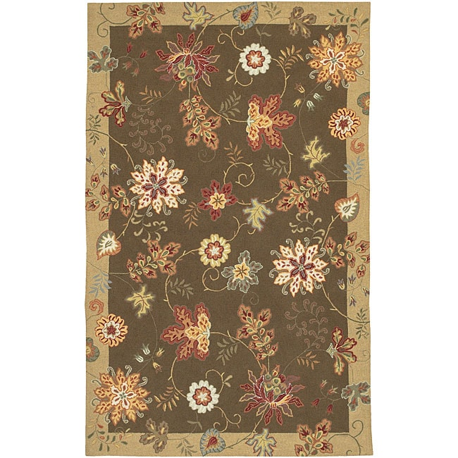 Hand-hooked Carnation Wool Rug (2'3 x 8')