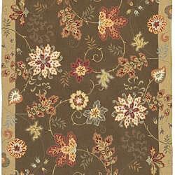 Hand-hooked Carnation Wool Rug (2'3 x 8') - Thumbnail 1
