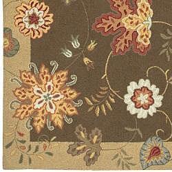 Hand-hooked Carnation Wool Rug (2'3 x 8') - Thumbnail 2