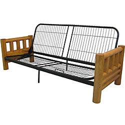 Full Trend Rustic Picture Frames : Somette Aspen Lodge Natural Full-size Futon Frame and Mattress Set