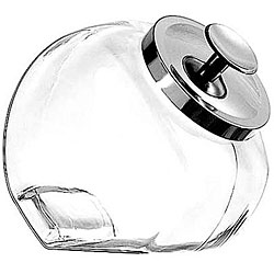 Anchor Hocking Corporation Half (.5) Gallon Heritage Hill Penny Candy Jar with Chrome Cover (Pack of 4)
