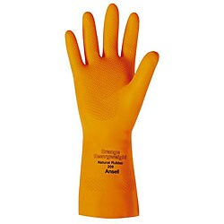 Ansell Protective Product Small Orange Latex Gloves (1 Pair)
