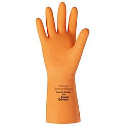 Ansell Protective Product Medium Orange Latex Gloves (1 Pair)