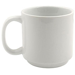 Vertex China 10-oz Stackable White Summit Mug (Case of 36)
