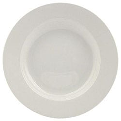 Vertex China 12-in White Porcelain Pasta Bowl (Pack of 12)
