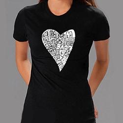 Los Angeles Pop Art Women's 'Heart Love' T-shirt