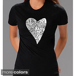 Los Angeles Pop Art Women's 'Heart Love' T-shirt