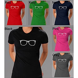 Los Angeles Pop Art Women's 'Chic Glasses' T-shirt