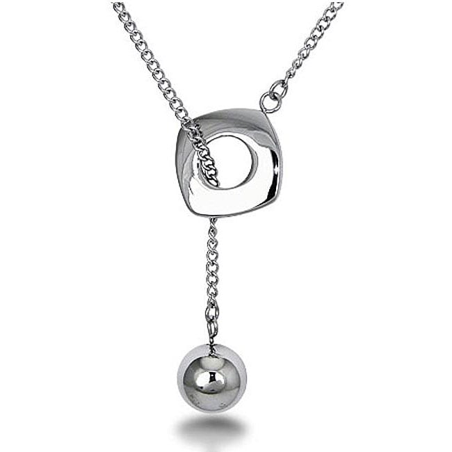 Oliveti Stainless Steel Lariat Necklace