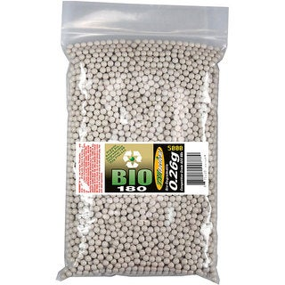 TSD TACTICAL BIO26X5M 0.26g 6 mm White Airsoft BBs (Bag of 5000)