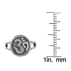 Journee Collection Sterling Silver Ohm Ring