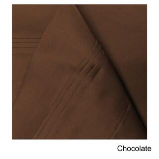 Superior Egyptian Cotton 650 Thread Count Split King Solid Deep Pocket Sheet Set (Option: Chocolate)
