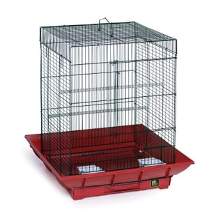 Prevue Pet Products SP850 Clean Life Integrated Seed Guard Cage (Option: Red)