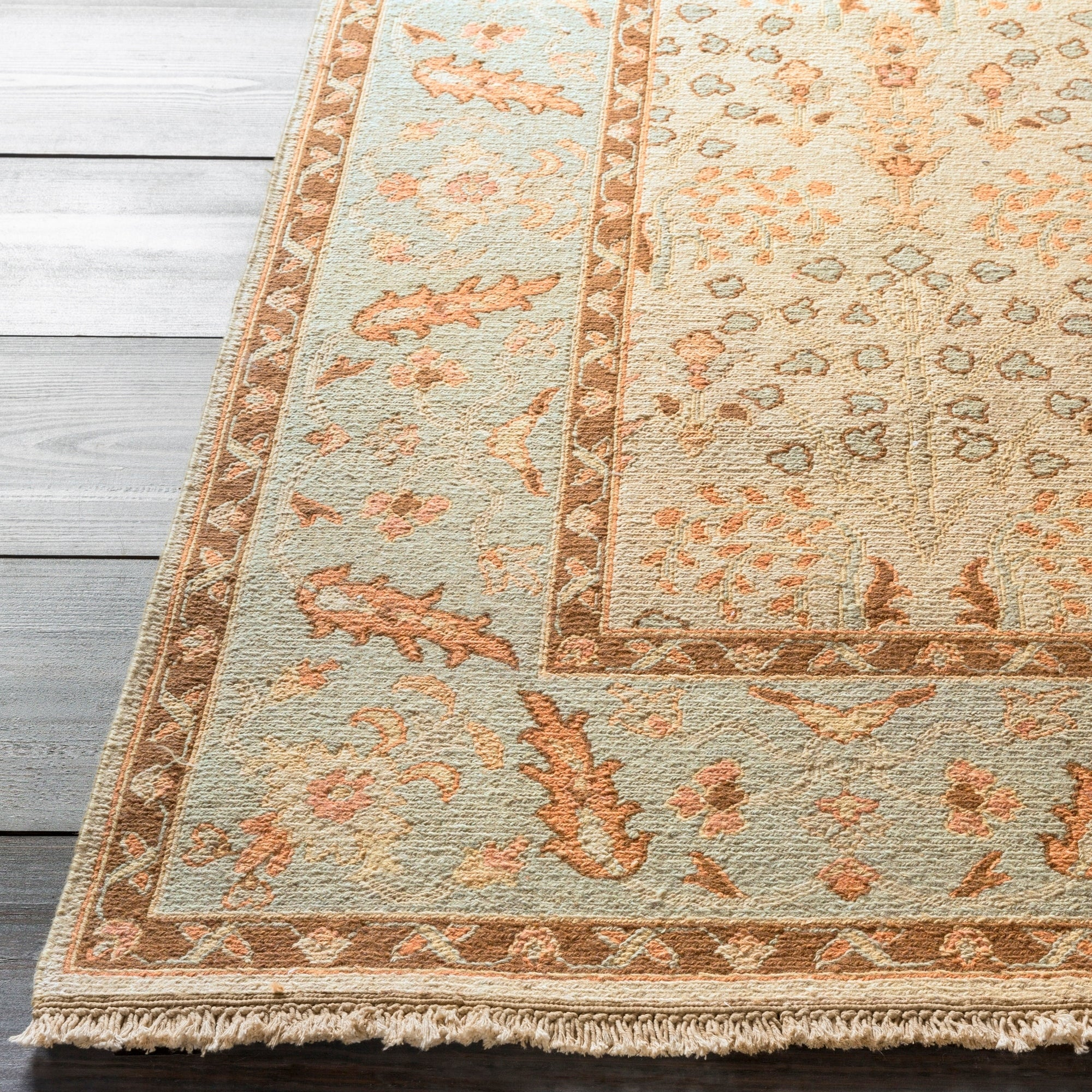 Hand-knotted Legacy New Zealand Wool Rug (6'x9'), Green K...
