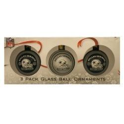 Dallas Cowboys Glass Ornaments (Set of 3) - Thumbnail 1