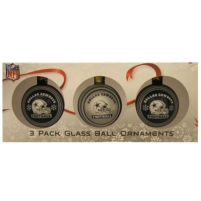 Dallas Cowboys Glass Ornaments (Set of 3)