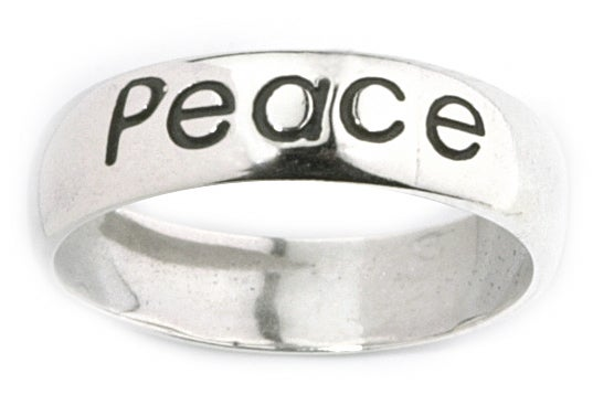 Carolina Glamour Collection Sterling Silver 'Peace' Ring