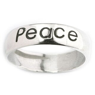 Sterling Silver 'Peace' Ring