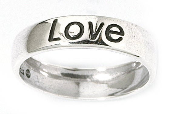 Carolina Glamour Collection Sterling Silver 'Love' Ring
