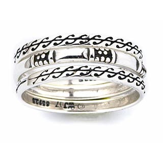 Carolina Glamour Collection Sterling Silver Scroll Design Stackable Ring Set|https://ak1.ostkcdn.com/images/products/444537/P928104.jpg?impolicy=medium