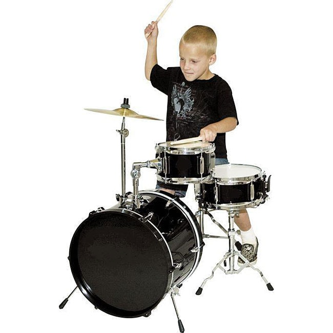 shop junior 39 s 4 piece drum set free shipping today overstock 4446790. Black Bedroom Furniture Sets. Home Design Ideas
