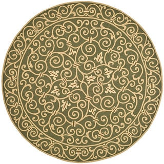 Safavieh Hand-hooked Iron Gate Light Green Wool Rug (3' Round)