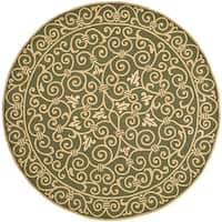 Safavieh Hand-hooked Iron Gate Light Green Wool Rug - 3' x 3' round