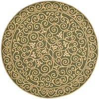 "Safavieh Hand-hooked Iron Gate Light Green Wool Rug - 5'6"" x 5'6"" round"