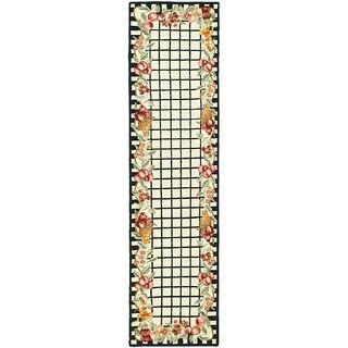 Safavieh Hand-hooked Harvest Ivory/ Black Wool Runner (2'6 x 10')