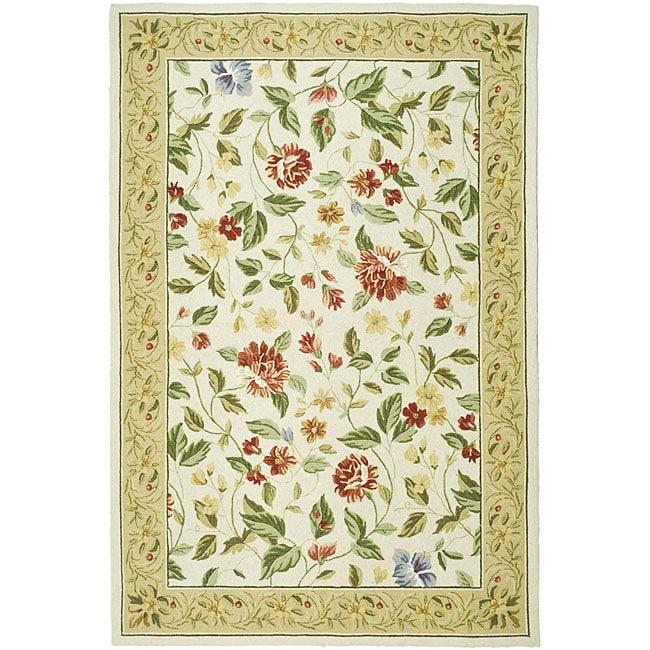 Safavieh Hand-hooked Boni Ivory/ Beige Wool Rug (5'3 x 8'3)